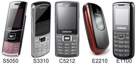Samsung s5050 s3310 c5212 e2210 e1100