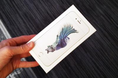 iPhone 6s, hopea, laatikko